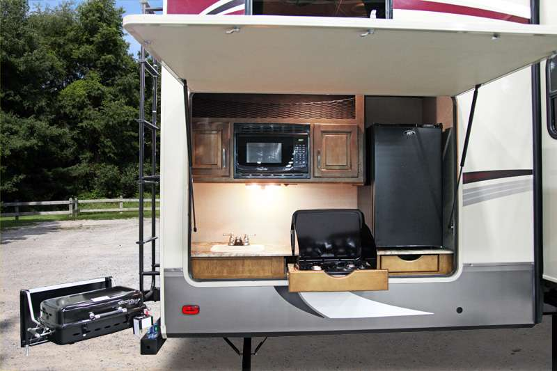 travel trailer with outdoor kitchen and bunkhouse wow blog