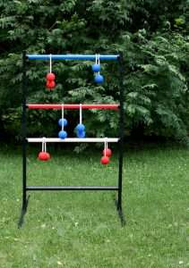 Ladder Golf Similar To Cornhole Except The Beanbags And Boards Are Replaced By Ball Boleros Plastic Pipes Formed Into A