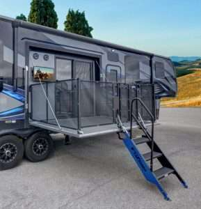 Fuzion 420 Toy Hauler Double The Patios Double The Fun
