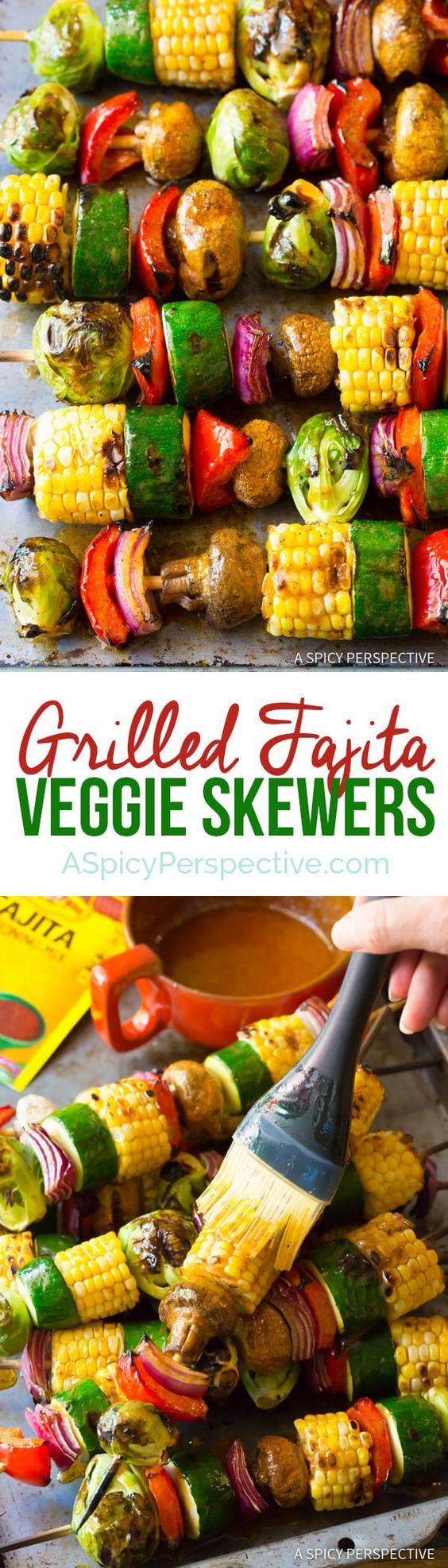 Vegetable skewers with fajita seasoning