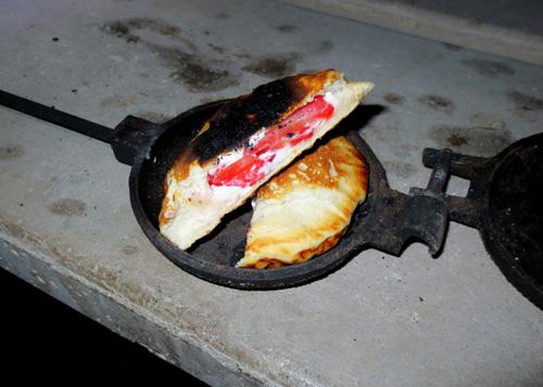Pie iron dessert recipe: strawberry short cake