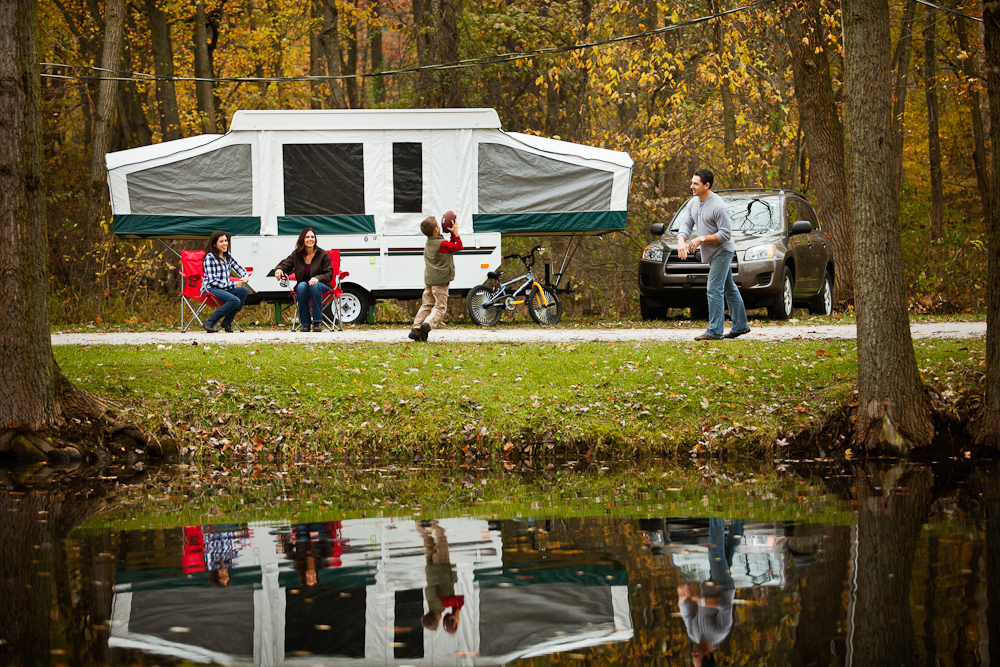 Fall RV activities: camping with family