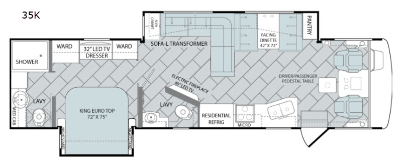 Holiday Rambler Vacationer 35K floor plan