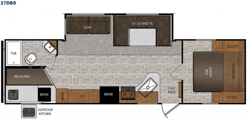 Avenger ATI 27DBS floor plan