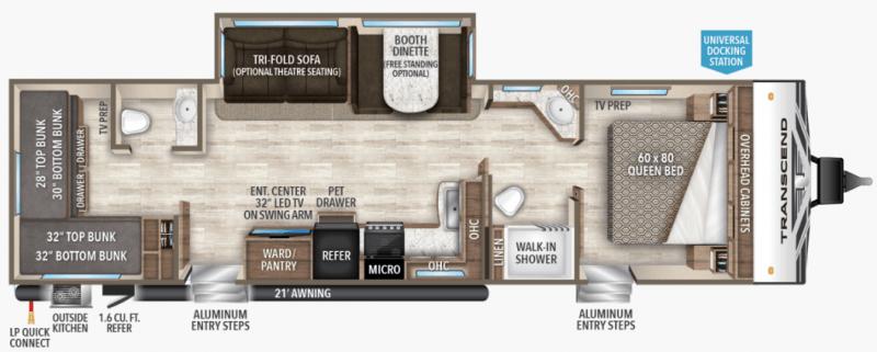 Grand Design Reflection 312BHTS floorplan