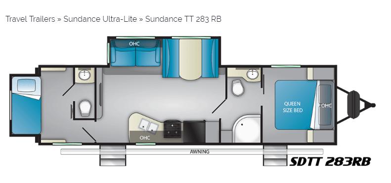 Sundance Ultra Light 283RB floorplan