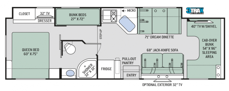 Four Winds 31E floor plan