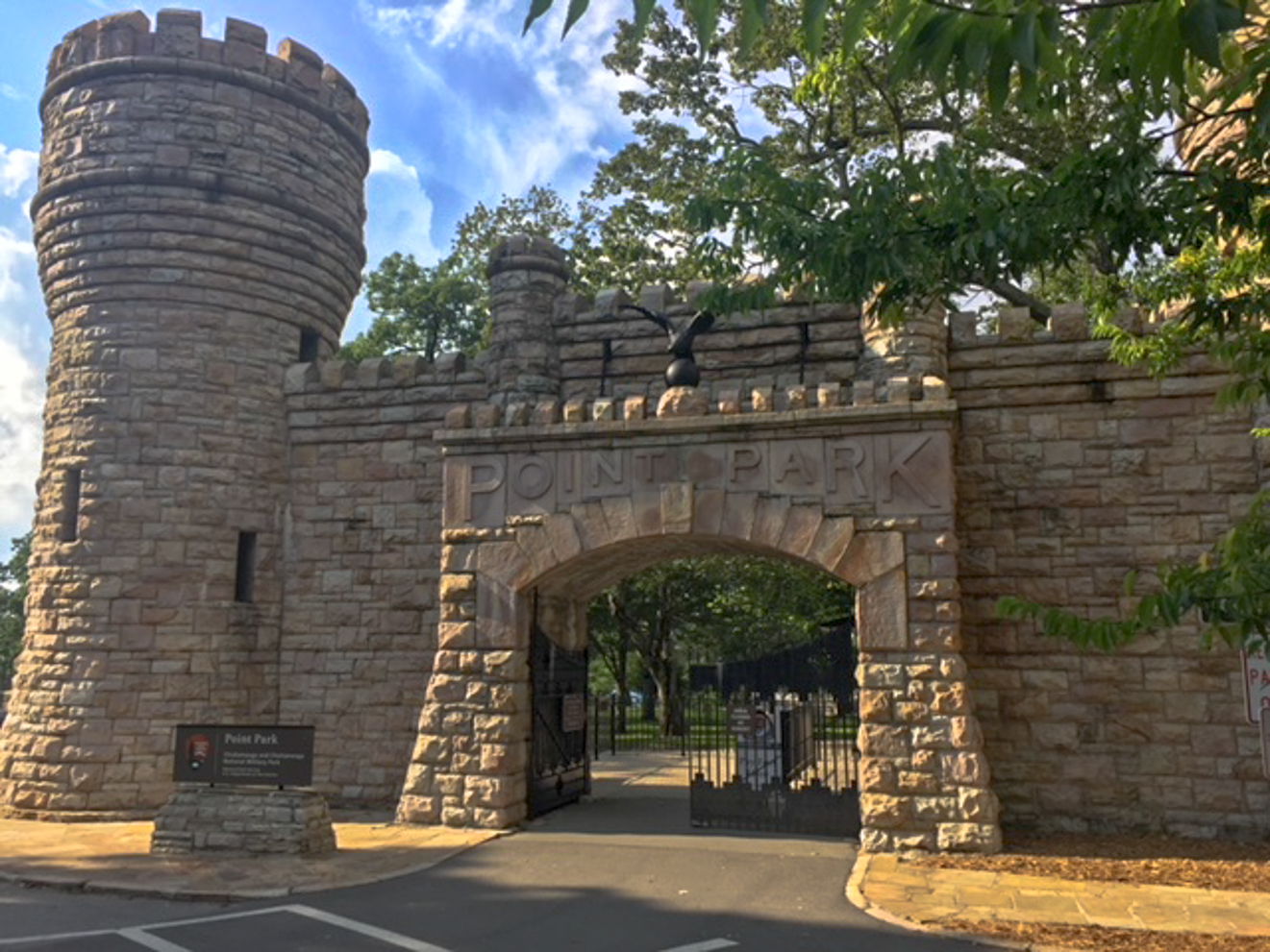 The gates of Point Park on Lookout Mountain were modeled after the US Army Corps of Engineers insignia. This spring camping destination is popular for history buffs.