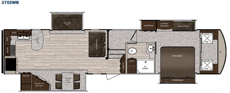 Sanibel 3702WB floor plan