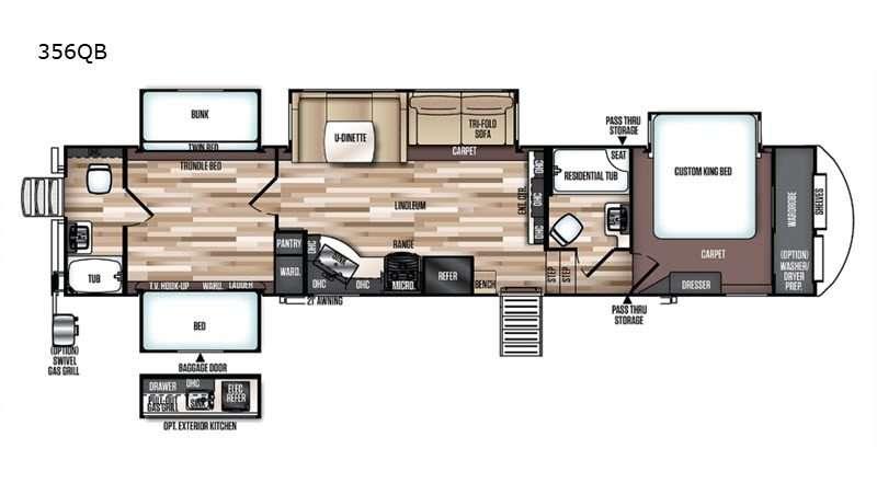 Heritage Glen 356QB floorplan