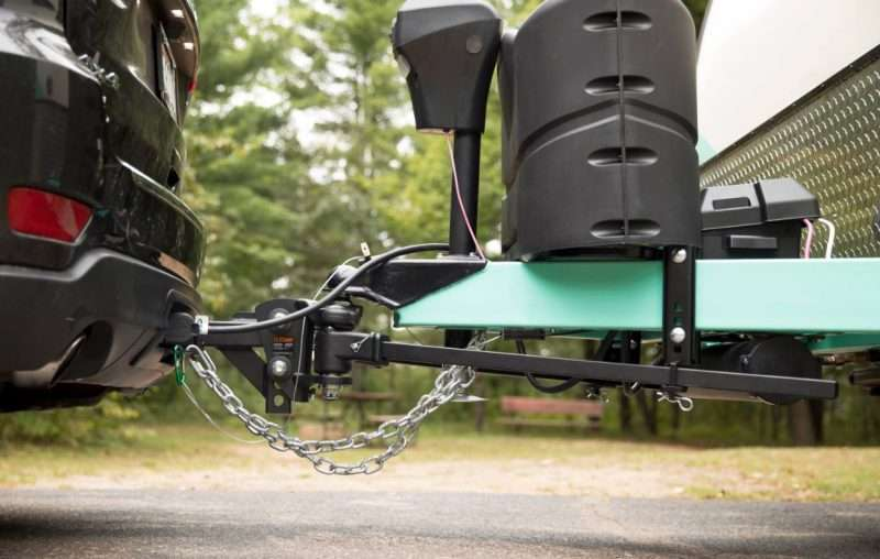 A vehicle towing a trailer has a sway control bar to prevent dangerous drifting.