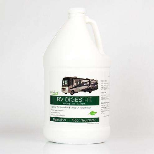 RV chemicals like this Digest-It Holding Tank Treatment are necessary for breaking down solid waste in your black tank.